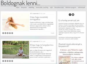 Laskai Nelli - Boldognak lenni blog