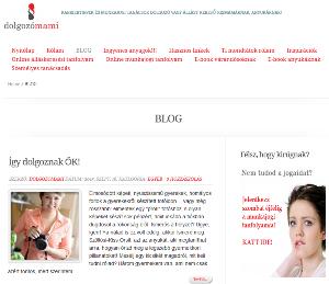 Repka Ágnes - Dolgozó mama blog címlap