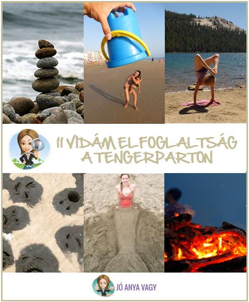 11 vidám elfoglaltság gyerekekkel az egész családnak a tengerparton
