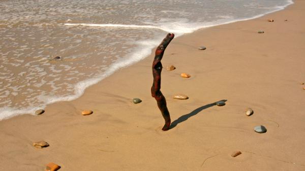 napóra készítés a homokban
