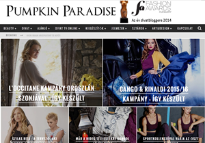 Parádi Gebriella magyar női blogger - Pumpkin Paradise